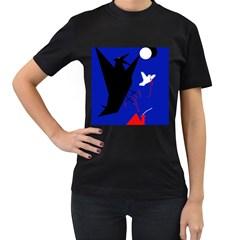 Night birds  Women s T-Shirt (Black)