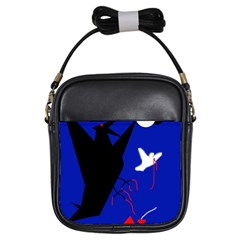 Night birds  Girls Sling Bags