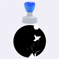 Night birds  Rubber Round Stamps (Large)