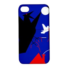 Night birds  Apple iPhone 4/4S Hardshell Case with Stand
