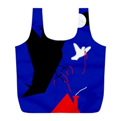 Night birds  Full Print Recycle Bags (L)