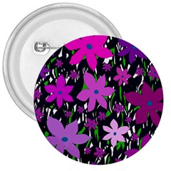 Purple Fowers 3  Buttons