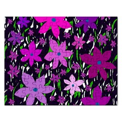 Purple Fowers Rectangular Jigsaw Puzzl