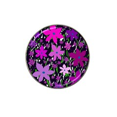 Purple Fowers Hat Clip Ball Marker (10 pack)
