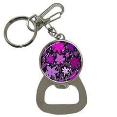 Purple Fowers Bottle Opener Key Chains