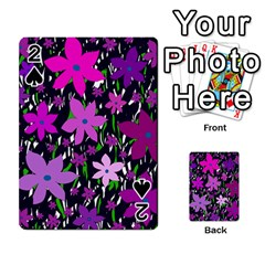 Purple Fowers Playing Cards 54 Designs