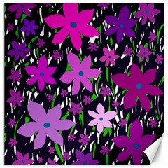 Purple Fowers Canvas 20  x 20