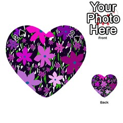 Purple Fowers Playing Cards 54 (heart)