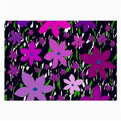 Purple Fowers Large Glasses Cloth