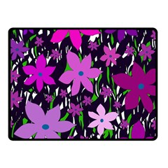 Purple Fowers Fleece Blanket (Small)