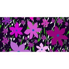 Purple Fowers YOU ARE INVITED 3D Greeting Card (8x4)