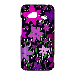 Purple Fowers HTC Droid Incredible 4G LTE Hardshell Case