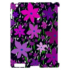Purple Fowers Apple iPad 2 Hardshell Case (Compatible with Smart Cover)