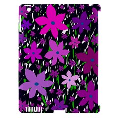 Purple Fowers Apple iPad 3/4 Hardshell Case (Compatible with Smart Cover)