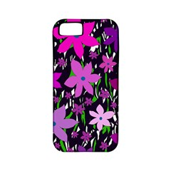 Purple Fowers Apple iPhone 5 Classic Hardshell Case (PC+Silicone)