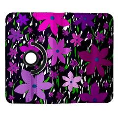 Purple Fowers Samsung Galaxy Note II Flip 360 Case