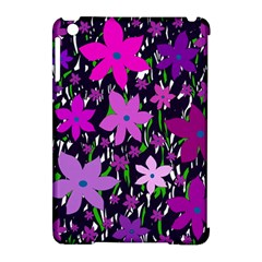 Purple Fowers Apple iPad Mini Hardshell Case (Compatible with Smart Cover)