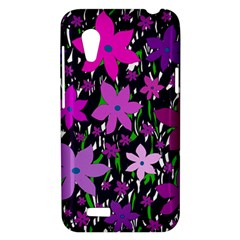 Purple Fowers HTC Desire VT (T328T) Hardshell Case