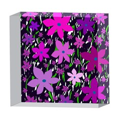 Purple Fowers 5  x 5  Acrylic Photo Blocks