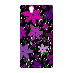 Purple Fowers Sony Xperia Z