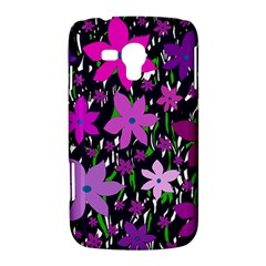 Purple Fowers Samsung Galaxy Duos I8262 Hardshell Case