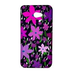 Purple Fowers HTC Butterfly S/HTC 9060 Hardshell Case