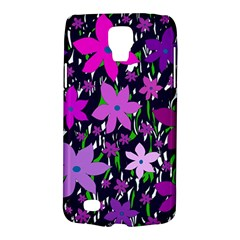 Purple Fowers Galaxy S4 Active
