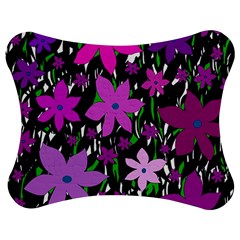 Purple Fowers Jigsaw Puzzle Photo Stand (Bow)