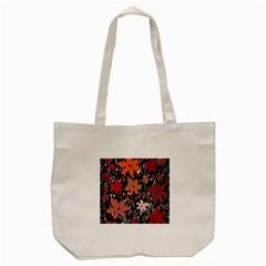 Orange flowers  Tote Bag (Cream)