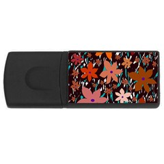 Orange flowers  USB Flash Drive Rectangular (4 GB)