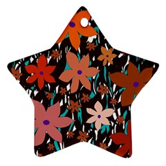Orange flowers  Star Ornament (Two Sides)