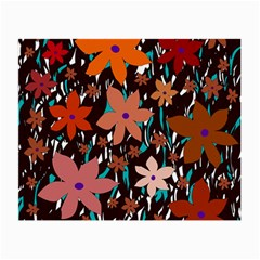 Orange flowers  Small Glasses Cloth (2-Side)