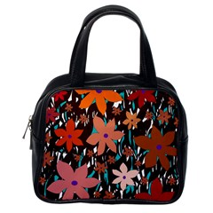 Orange flowers  Classic Handbags (One Side)