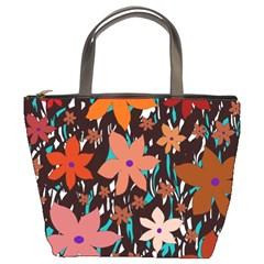 Orange flowers  Bucket Bags