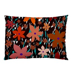 Orange flowers  Pillow Case (Two Sides)