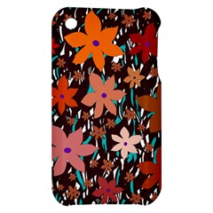 Orange flowers  Apple iPhone 3G/3GS Hardshell Case