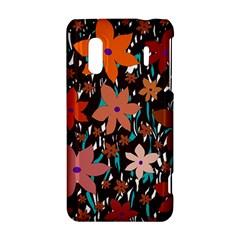 Orange flowers  HTC Evo Design 4G/ Hero S Hardshell Case