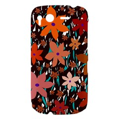 Orange flowers  HTC Desire S Hardshell Case