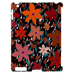 Orange flowers  Apple iPad 2 Hardshell Case (Compatible with Smart Cover)
