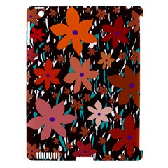 Orange flowers  Apple iPad 3/4 Hardshell Case (Compatible with Smart Cover)