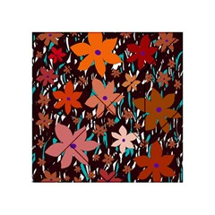 Orange flowers  Acrylic Tangram Puzzle (4  x 4 )