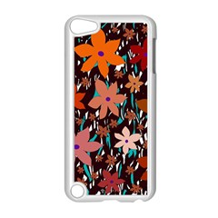Orange flowers  Apple iPod Touch 5 Case (White)