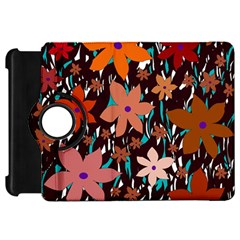 Orange flowers  Kindle Fire HD Flip 360 Case