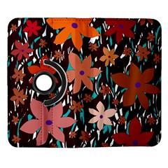 Orange flowers  Samsung Galaxy Note II Flip 360 Case