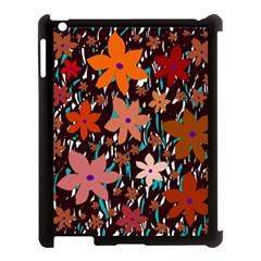Orange flowers  Apple iPad 3/4 Case (Black)