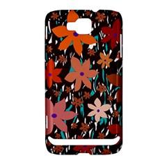 Orange flowers  Samsung Ativ S i8750 Hardshell Case