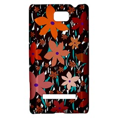 Orange flowers  HTC 8S Hardshell Case
