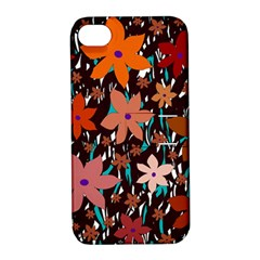 Orange flowers  Apple iPhone 4/4S Hardshell Case with Stand