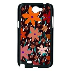 Orange flowers  Samsung Galaxy Note 2 Case (Black)