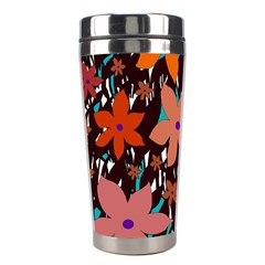 Orange flowers  Stainless Steel Travel Tumblers